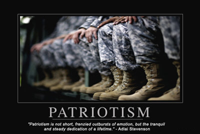 """Patriotism is not short, frenzied outbursts of emotion, but the tranquil and steady dedication of a lifetime."" - Adlai Stevenson"