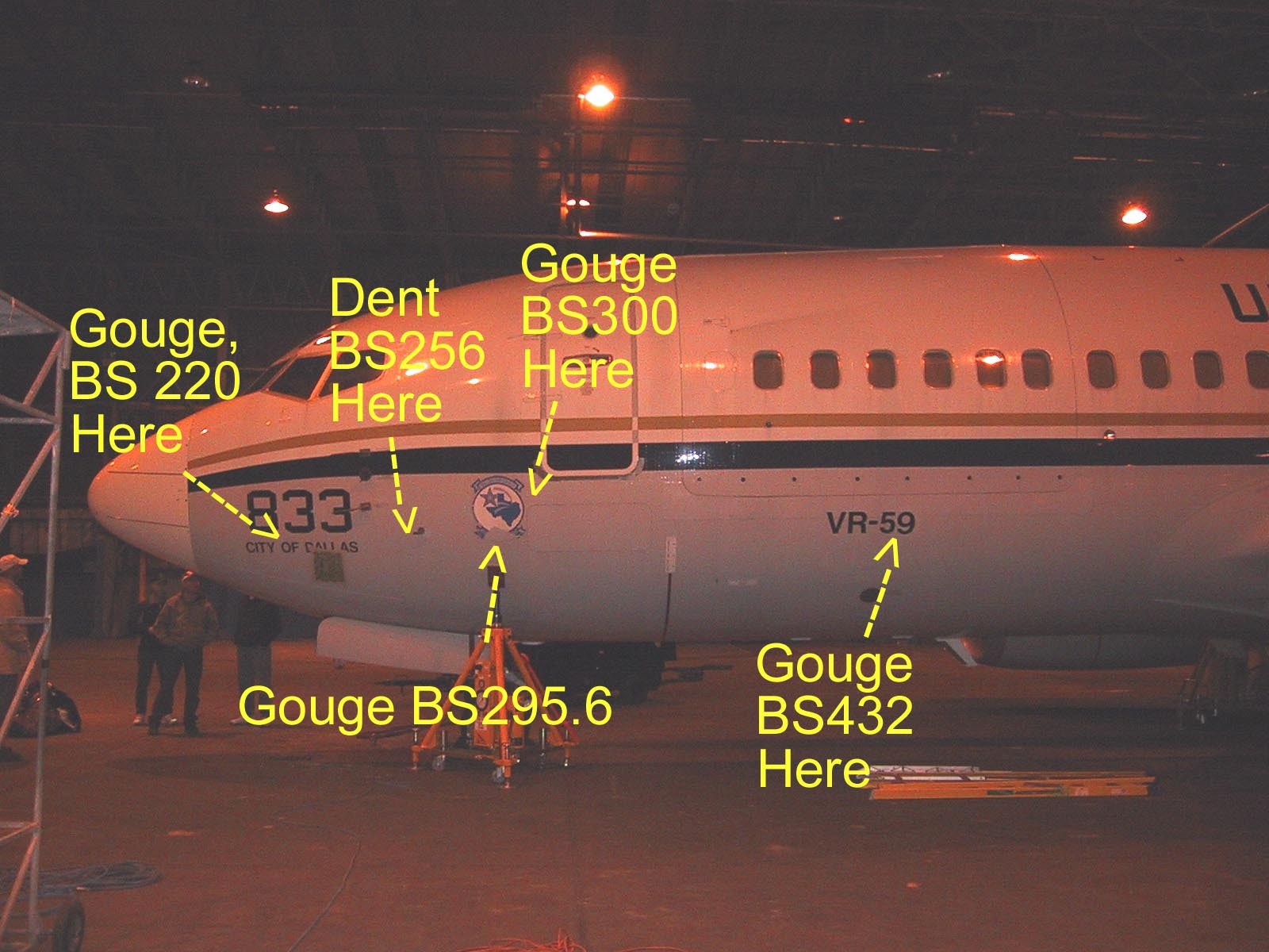 Aircraft 833 as it looked upon delivery to the Boeing facility in Wichita